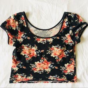 Tops - ✨Colorful Floral Crop Top✨